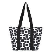 black white squares wine tote wine purse