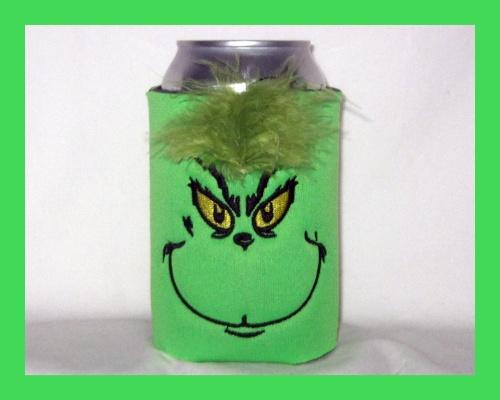 Grinchy Can Cooler or Bottle Cooler