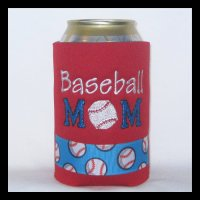 Ready to Ship Red Baseball Mom Can Cooler