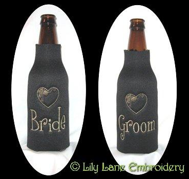 Bride & Groom Longneck Coolers