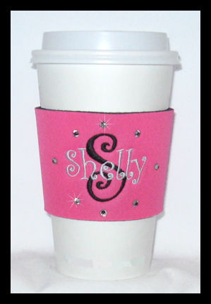 Personalized Monogrammed Coffee Cup Wraps