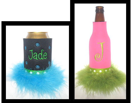 Marabou Feather Koozies