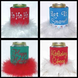 Ready to Ship Holiday Can Coolers