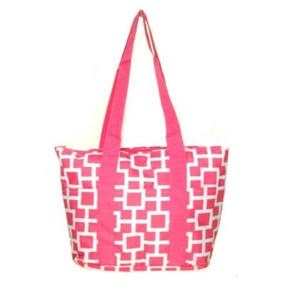 hot pink connecting squares wine tote wine purse