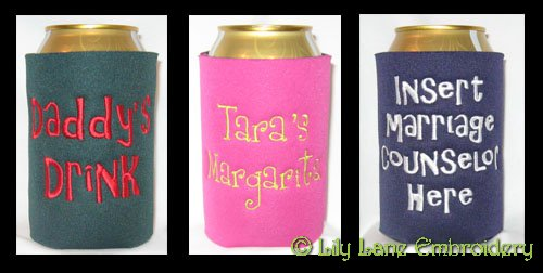 Can Cooler with Name or Monogram Only