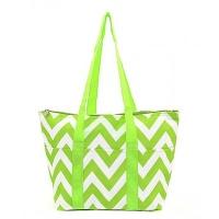 lime green white chevron wine tote wine purse