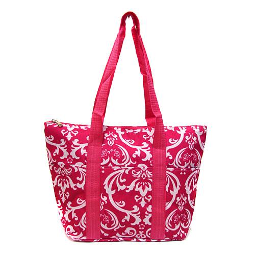 pink damask wine tote wine purse