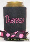 black large hot pink dot angelina font