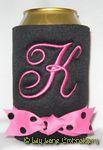 black hot pink black dot quill font