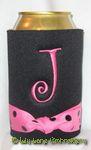 black hot pink dot curlz font