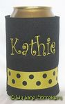black yellow black dot curlz font