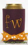 burgundy yellow gold curlz font