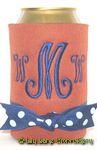 burnt orange royal blue curly script font