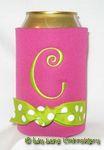 magenta lime green dot curlz font