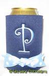 navy blue light blue dot curlz font