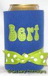 royal blue lime green bellbottom font