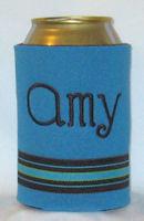 neon blue choc bermuda stripe