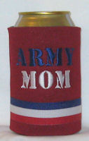 red white blue red koozie