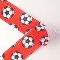 Little Soccer Balls on Red
