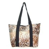 tan leopard with black straps wine tote wine purse